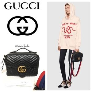 GG GUCCI MARMONT TOP HANDLE BAG SMALL